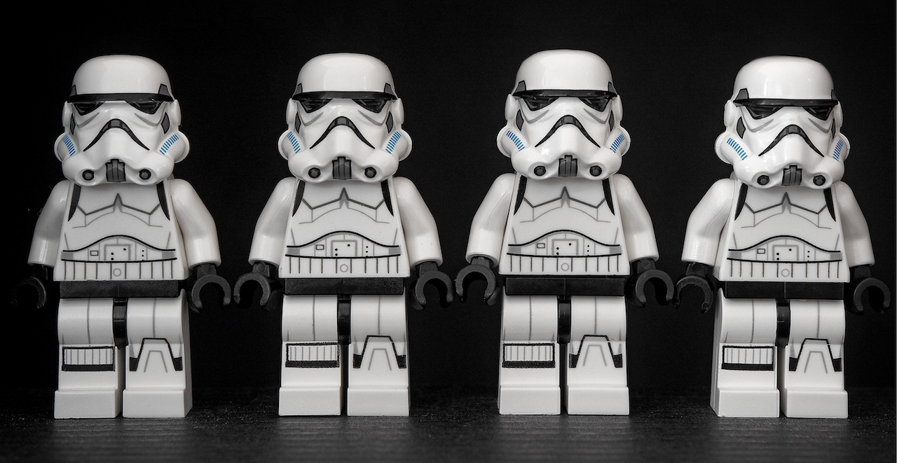 Stormtroopers lined up