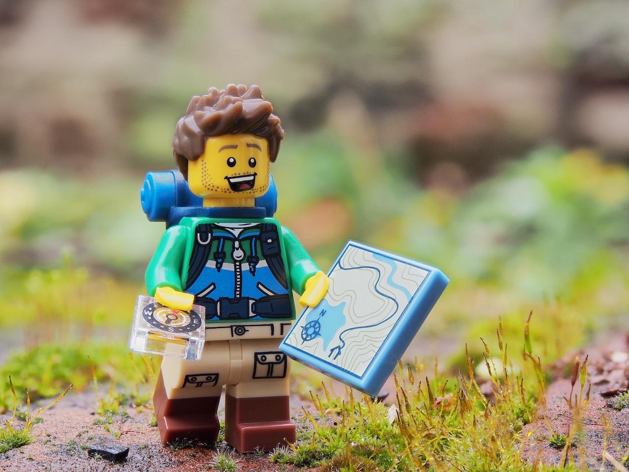 Lego man orienteering