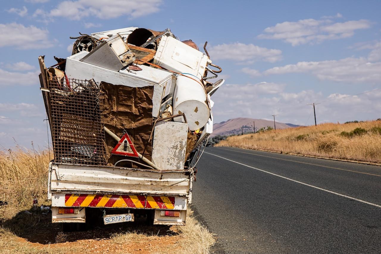 Truck laden with scrap