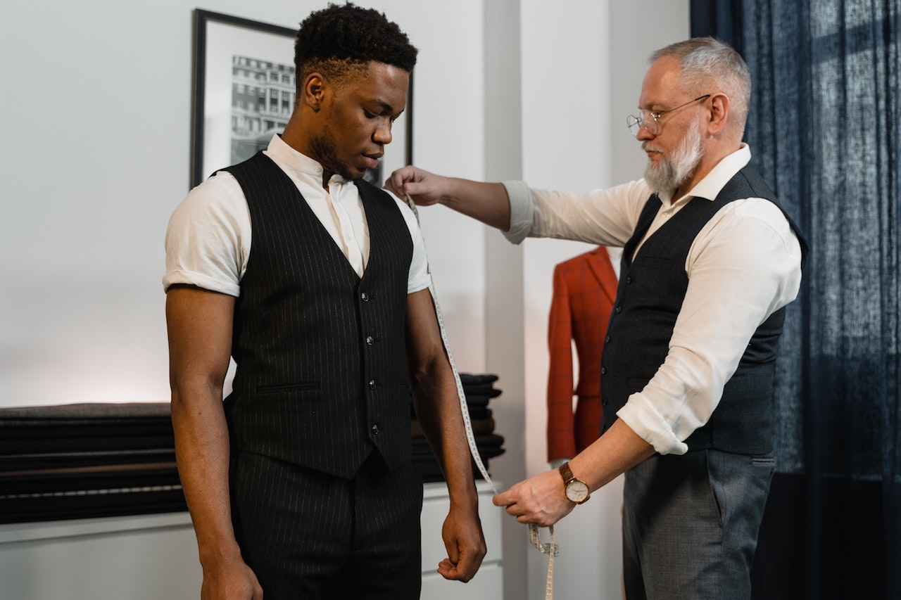 Man being measured for a suit